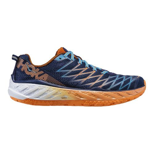 Mens Hoka One One Clayton 2 Running Shoe - Blue/Orange 10.5