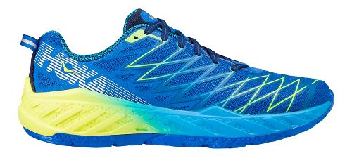 Mens Hoka One One Clayton 2 Running Shoe - Blue/Yellow 7.5