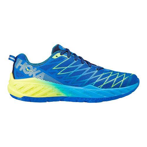 Mens Hoka One One Clayton 2 Running Shoe - Blue/Yellow 8
