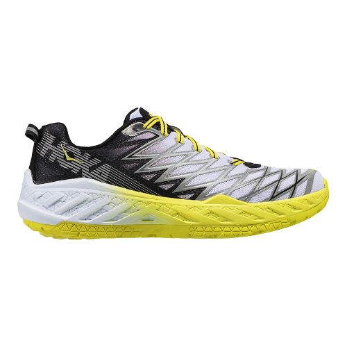 Mens Hoka One One Clayton 2 Running Shoe - Black/White 12