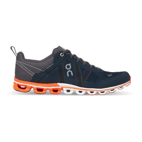 Mens On Cloudflow Running Shoe - Rock/Orange 9