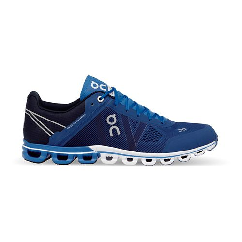 Mens On Cloudflow Running Shoe - Blue/Navy 9