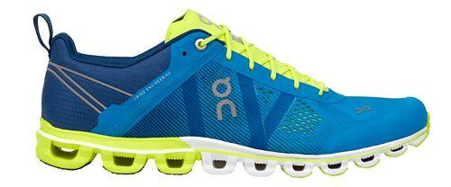 Mens On Cloudflow Running Shoe - Malibu/Neon 13