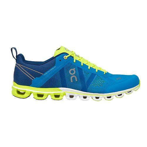 Mens On Cloudflow Running Shoe - Malibu/Neon 7.5