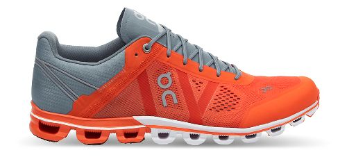 Mens On Cloudflow Running Shoe - Orange/Glacier 10.5