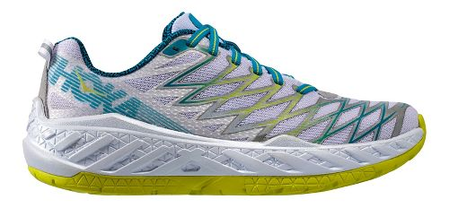 Womens Hoka One One Clayton 2 Running Shoe - White/Green 10.5