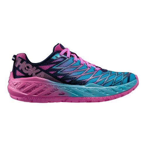 Womens Hoka One One Clayton 2 Running Shoe - Black/Green 7