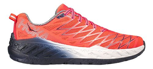 Womens Hoka One One Clayton 2 Running Shoe - Neon Coral 6