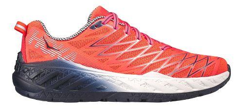 Womens Hoka One One Clayton 2 Running Shoe - Neon Coral 7
