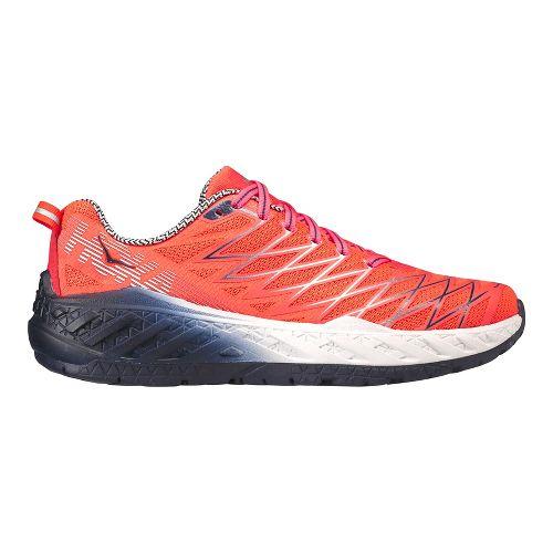 Womens Hoka One One Clayton 2 Running Shoe - Neon Coral 6