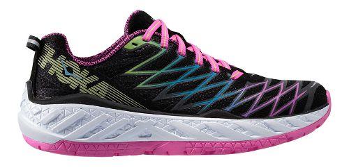 Womens Hoka One One Clayton 2 Running Shoe - Black/Green 7.5