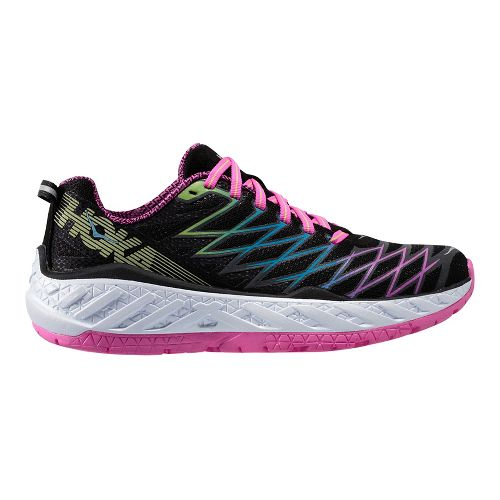 Womens Hoka One One Clayton 2 Running Shoe - Black/Green 7