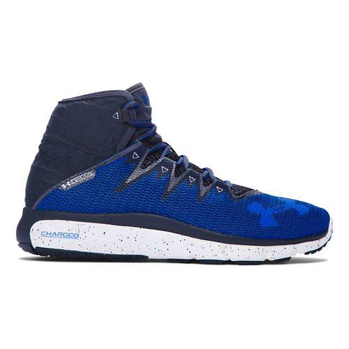 Mens Under Armour Highlight Delta  Running Shoe - Grey/Bolt Orange 7.5
