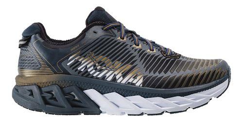 Mens Hoka One One Arahi Running Shoe - Navy/Gold 9.5