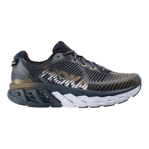 Mens Hoka One One Arahi Running Shoe - Navy/Gold 11