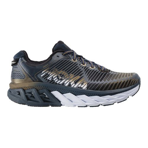 Mens Hoka One One Arahi Running Shoe - Navy/Gold 7