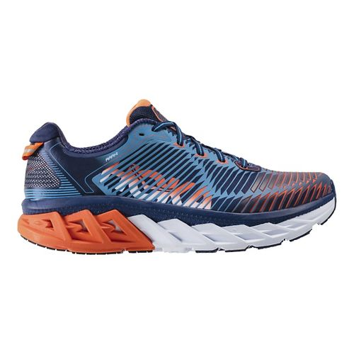 Mens Hoka One One Arahi Running Shoe - Blue/Orange 11