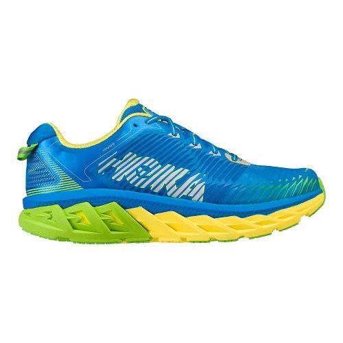 Mens Hoka One One Arahi Running Shoe - Blue/Yellow 12.5