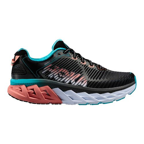 Womens Hoka One One Arahi Running Shoe - Black/Peach 7