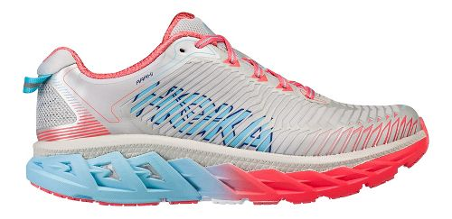 Womens Hoka One One Arahi Running Shoe - White/Pink/Blue 7