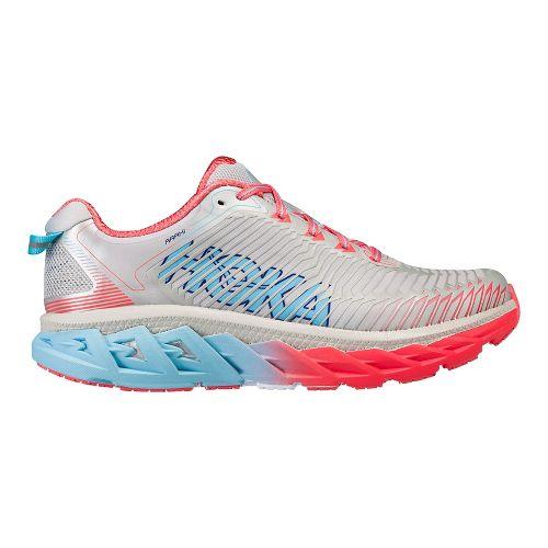 Womens Hoka One One Arahi Running Shoe - White/Pink/Blue 6.5