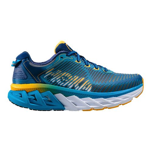 Womens Hoka One One Arahi Running Shoe - Blue/Gold 5.5