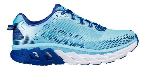 Womens Hoka One One Arahi Running Shoe - White/Pink/Blue 7