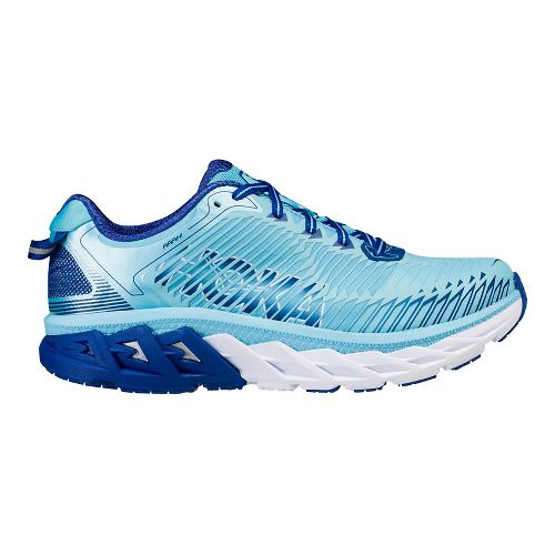 Womens Hoka One One Arahi Running Shoe - Yellow/Blue 8