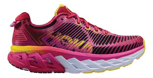 Womens Hoka One One Arahi Running Shoe - Pink/Yellow 5