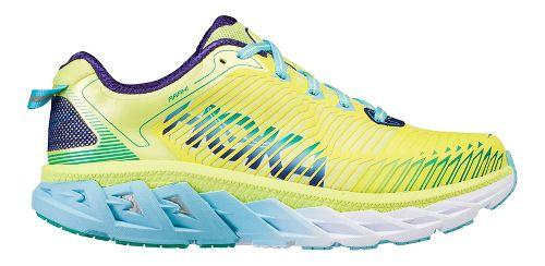 Womens Hoka One One Arahi Running Shoe - Yellow/Blue 10.5
