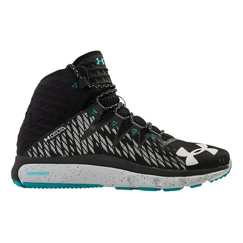 Mens Under Armour Highlight Delta Night Running Shoe - Black/Overcast Grey 10