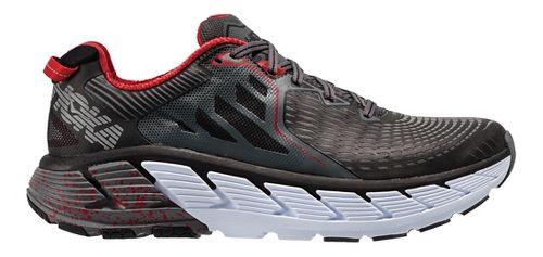 Mens Hoka One One Gaviota Running Shoe - Black/Red 12.5