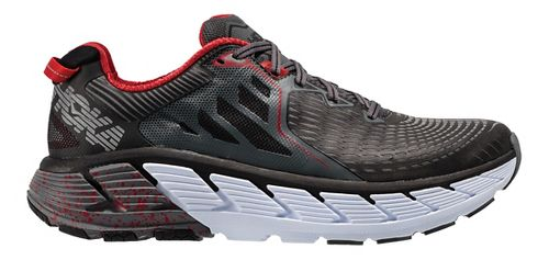 Mens Hoka One One Gaviota Running Shoe - Black/Red 8