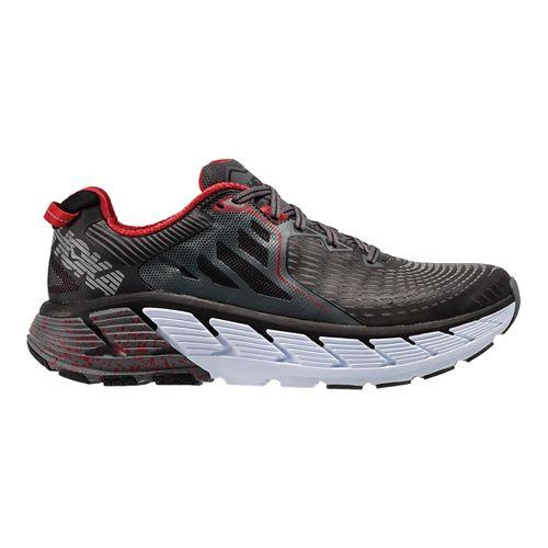 Mens Hoka One One Gaviota Running Shoe - Black/Red 9.5