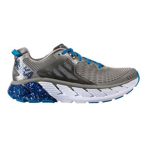 Mens Hoka One One Gaviota Running Shoe - Dove/Blue 8