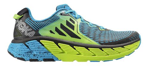 Mens Hoka One One Gaviota Running Shoe - Green/Blue 10