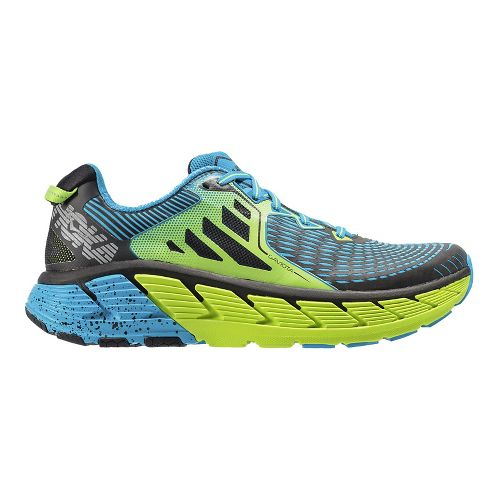 Mens Hoka One One Gaviota Running Shoe - Green/Blue 9