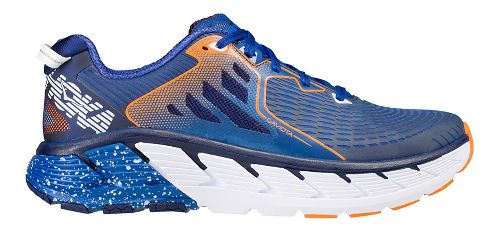 Mens Hoka One One Gaviota Running Shoe - Navy/Orange 8