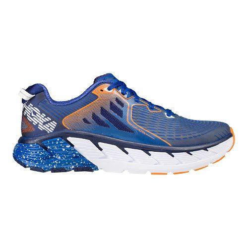 Mens Hoka One One Gaviota Running Shoe - Navy/Orange 8