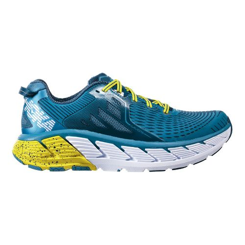 Mens Hoka One One Gaviota Running Shoe - Niagara/Midnight 9