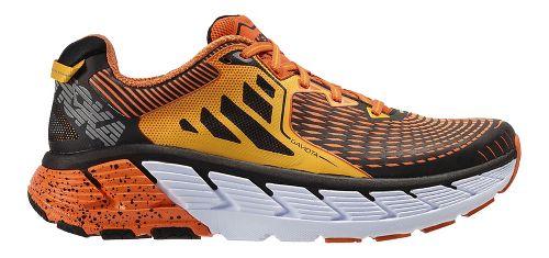 Mens Hoka One One Gaviota Running Shoe - Red Orange/Gold 10