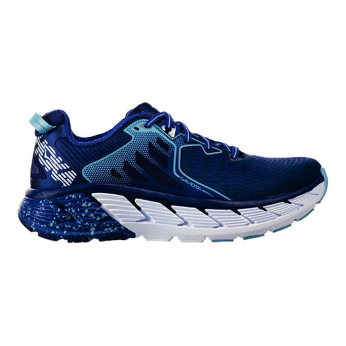 Womens Hoka One One Gaviota Running Shoe - Blue/White 8.5