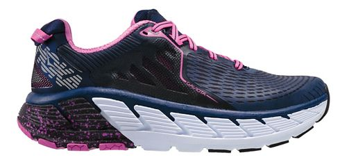 Womens Hoka One One Gaviota Running Shoe - Medieval Blue/Pink 10.5