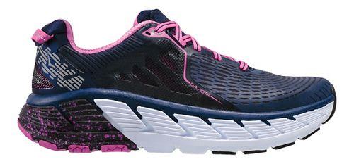Womens Hoka One One Gaviota Running Shoe - Medieval Blue/Pink 7