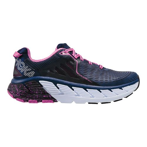 Womens Hoka One One Gaviota Running Shoe - Medieval Blue/Pink 6.5