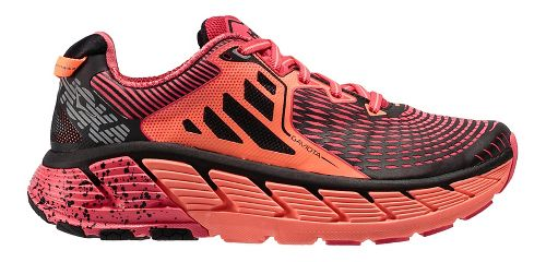 Womens Hoka One One Gaviota Running Shoe - Pink/Coral 5