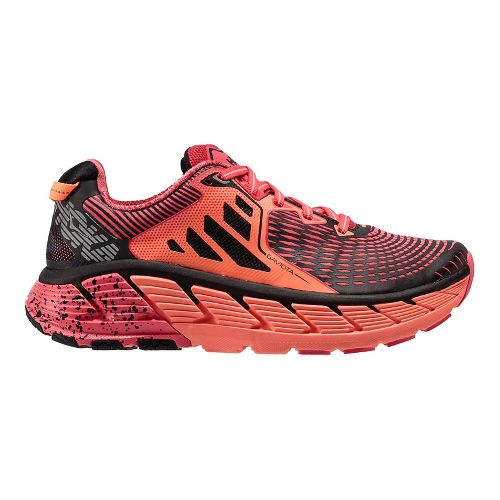 Womens Hoka One One Gaviota Running Shoe - Pink/Coral 5