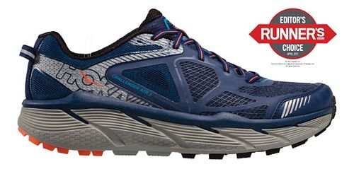Mens Hoke One One Challenger ATR 3 Trail Running Shoe - Medieval Blue/Orange 11