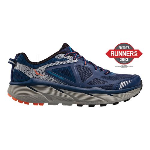 Mens Hoke One One Challenger ATR 3 Trail Running Shoe - Medieval Blue/Orange 12.5