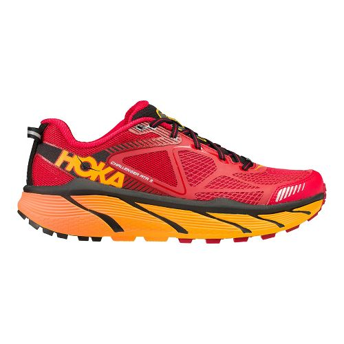 Mens Hoke One One Challenger ATR 3 Trail Running Shoe - Red/Orange 12.5